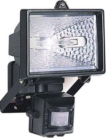 Reflektor 150W halogenový s PIR čidlem,černý