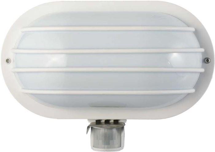 Nástěnné světlo PIR, ST69-2, bílé, 230V/ max.60W