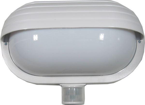Nástěnné světlo s PIR čidlem, ST69, bílé 230V/60W, vadné, stále svítí