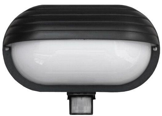 Nástěnné světlo s PIR čidlem, ST69, černé 230V/60W