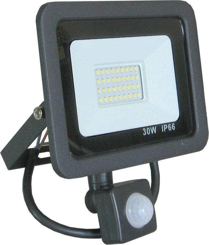 Reflektor LED 30W 6000K s PIR čidlem