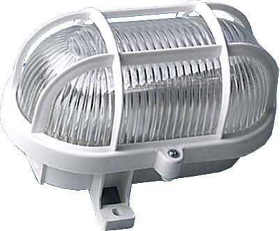 Nástěnné světlo 230V/60W bílé,oválné