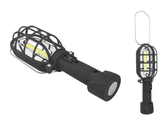 Pracovní svítilna - montážní lampa,  LED COB, 3x 1,5V AA