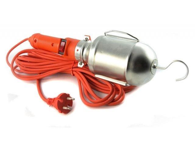 Pracovní svítilna - montážní lampa, 230V/E27,přívod 10m