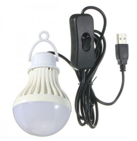 Svítidlo závěsné LED 5W pro camping, napájení USB