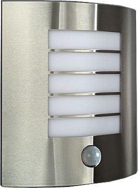 Nástěnné světlo nerezové s PIR 230V/60W