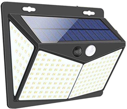 Solární svítidlo LED-208x s PIR čidlem nástěnné /Solární světlo/