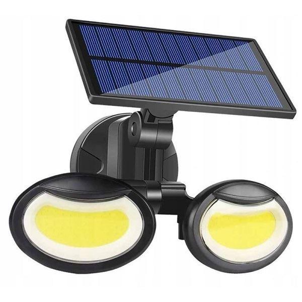 Solární svítidlo LED COB 108x s PIR čidlem nástěnné
