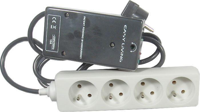Vypínač spotřebičů v režimu stand-by EASY-OFF, 4x zásuvka
