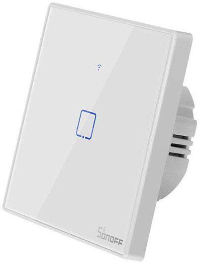 Dálkově ovládaný vypínač Sonoff T2EU1C-TX wifi+RF 433MHz 1kanálový