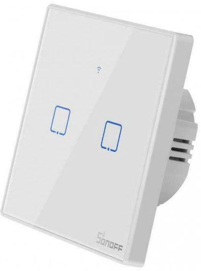 Dálkově ovládaný vypínač Sonoff T2EU2C-TX wifi+RF 433MHz 2kanálový