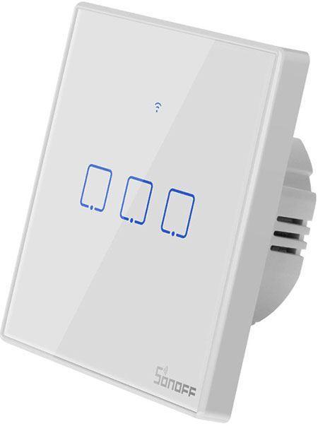 Dálkově ovládaný vypínač Sonoff T2EU3C-TX wifi+RF 433MHz 3kanálový