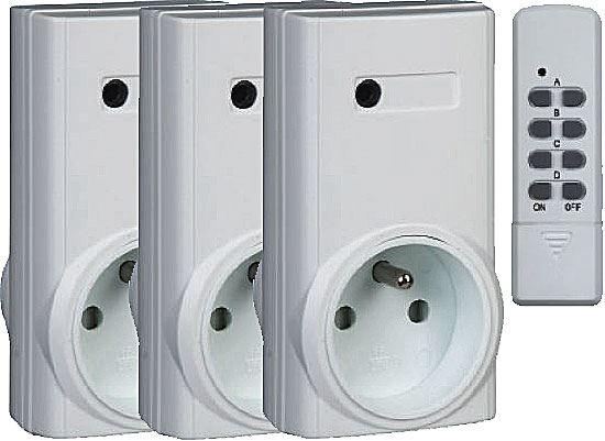 3x dálkově ovládaná zásuvka+4kanál.D.O. Kangtai