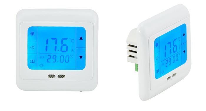 Prostorový dotykový termostat programovatelný se 2 senzory