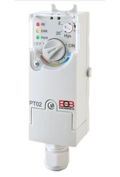 Elektronický příložný termostat PT02