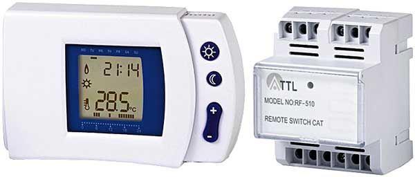 Prostor. termostat bezdrátový RF-510T,nový, neúplné zobrazení displeje