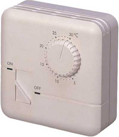 Analogový nástěnný termostat TH-555 s termistorem,250V/7A