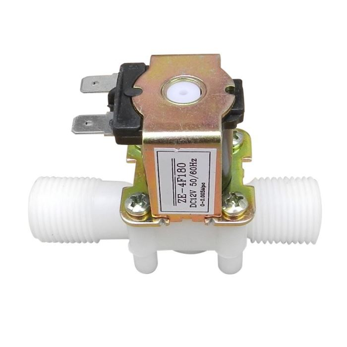 Elektromagnetický ventil 12V na vodu plastový