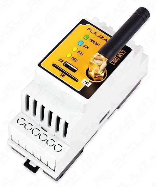 Dálkové ovládání GSM na DIN lištu GSM-DIN3