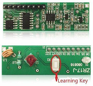 Modul dálkového ovládání ZR17J - přijímač 433MHz s učícím se kódem