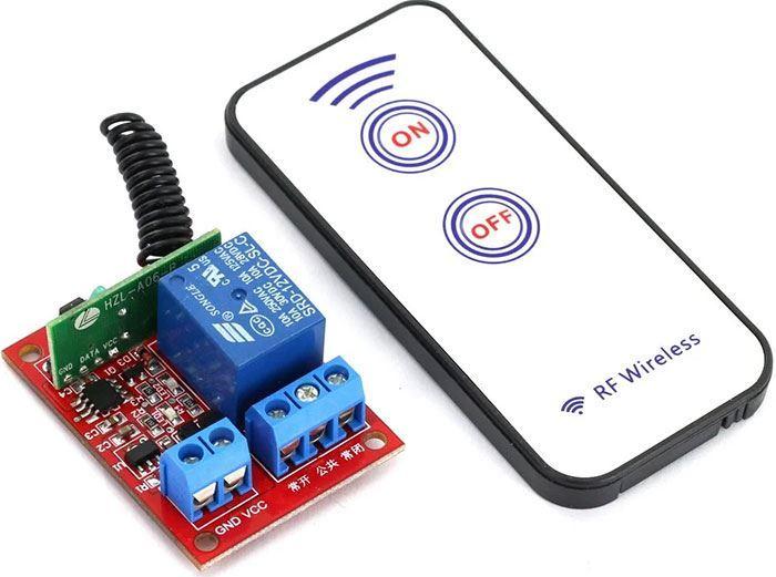 Dálkové ovládání, vysílač+přijímač RF 433MHz, napájení přijímače 24V