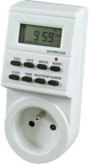 Spínací hodiny 230V digitální týdenní TS-EF1