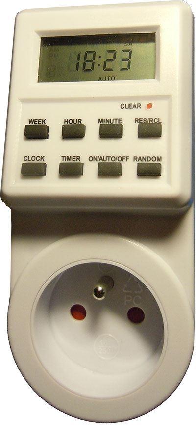Spínací hodiny 230V digitální týdenní TE01F