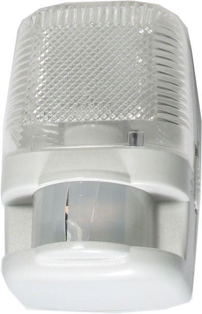 Noční světlo s PIR do zásuvky 230V/7W, prasklý kryt PIR, funkční
