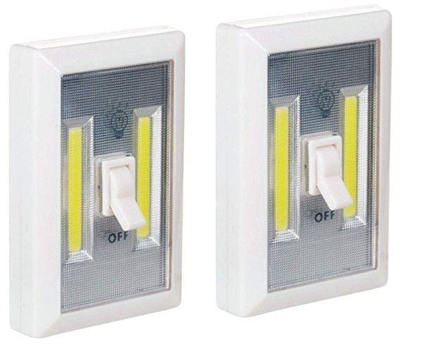 Přenosné bezdrátové světlo LED COB 3 W 2 ks v balení