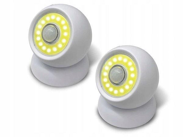 Bezdrátová LED světla , 2ks , nefungující PIR čidlo