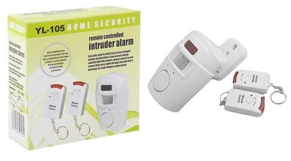 Nástěnný alarm s PIR čidlem a dálkovým ovládáním (2x vysílač)