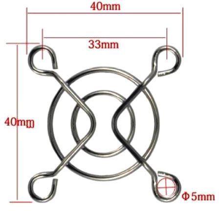 Mřížka ventilátoru 40x40mm kovová