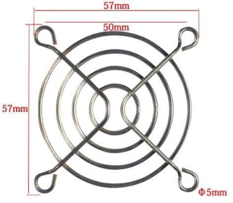Mřížka ventilátoru 60x60mm kovová