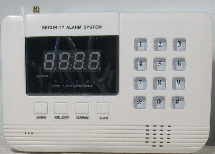 Bezdrátový alarm GSM-01LED, vadný, pouze základní jednotka