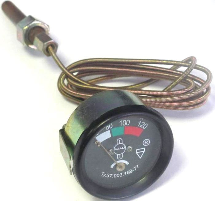Teploměr mechanický UT-200D, 40-120°C 50mm s vedením