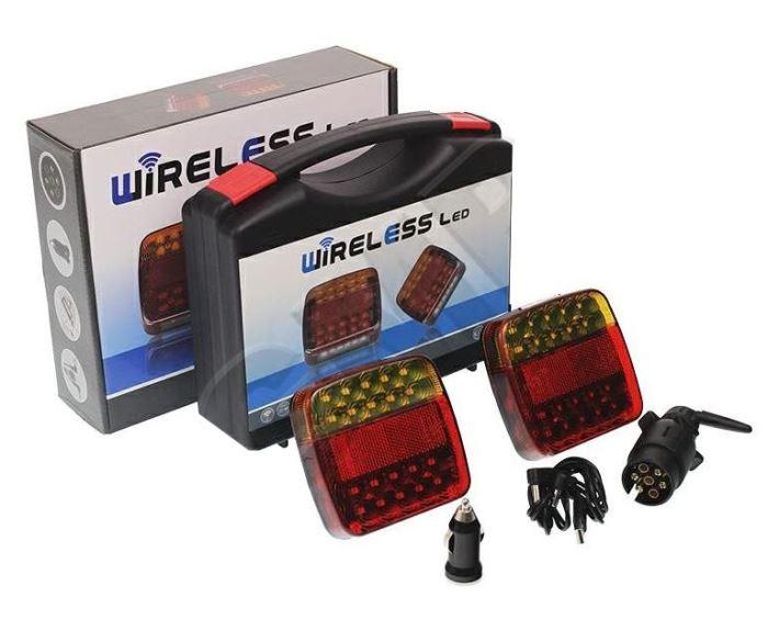 Koncové magneticá LED světla na přivěsný vozík, bezdrátová