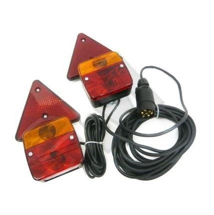 Koncové magneticá světla s trojúhelníky na přivěsný vozík 7,5m+2,5m