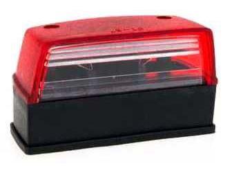 Osvětlení SPZ pro přívěsy, FT-037 červené