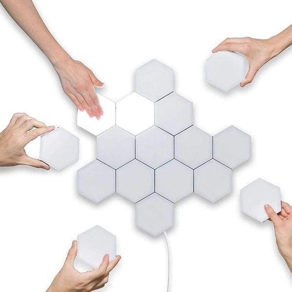 LED Kvantové dotykové světlo, bílá, 6ks