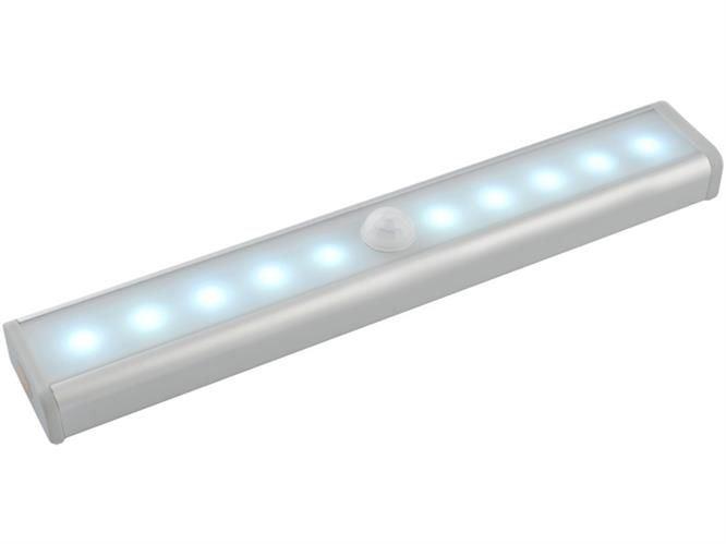 LED osvětlení s pohybovým senzorem 10LED, 4x AAA