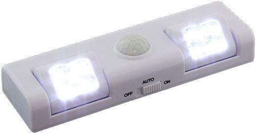 LED osvětlení s PIR čidlem do skříně bílé