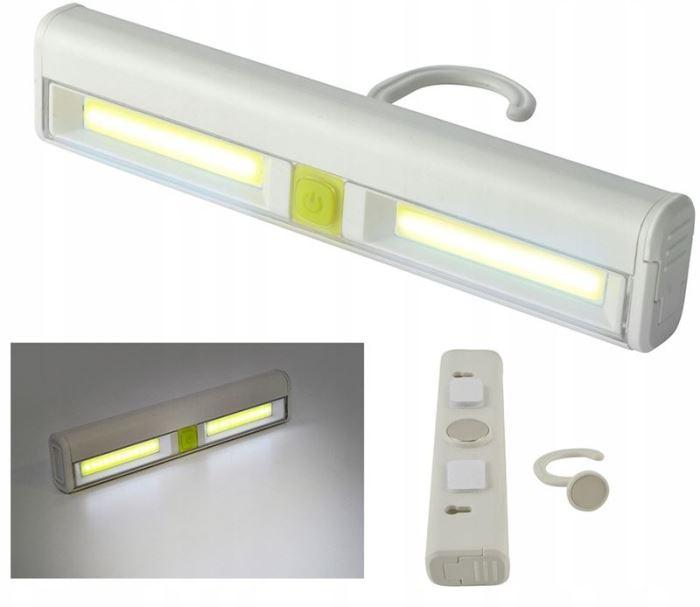 LED COB osvětlení  do skříně, 3W, 3xAAA 1,5V