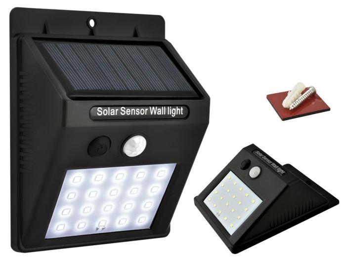 Solární nástěnné svítidlo s čidlem PIR,0,2W