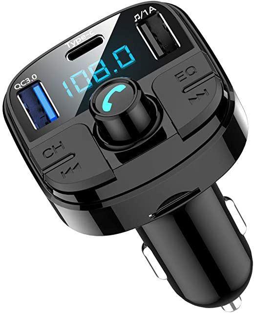 FM modulátor (transmitter), bluetooth, přehrávač MP3, nabíječka BT29