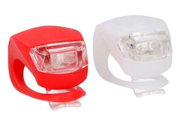 SET LED osvětlení na kolo silikonové