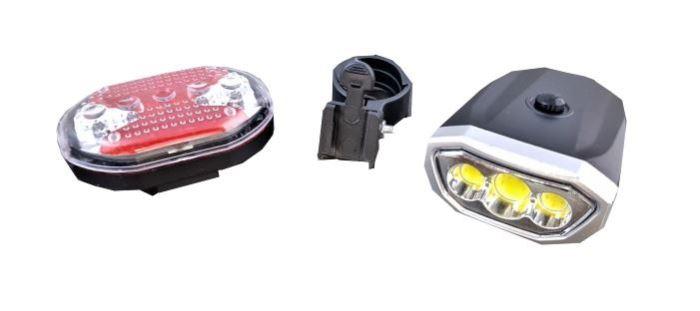 SET LED COB osvětlení na kolo