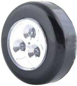 Svítilna LED 3x - černá, napájení 3xAAA