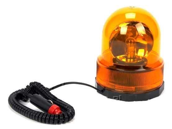Oranžový výstražný magnetický maják 12V - kulatý