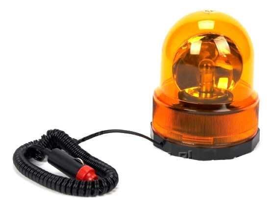 Oranžový výstražný magnetický maják 24V - kulatý