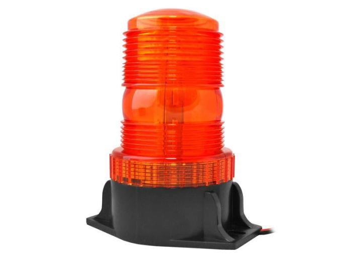 Oranžový výstražný LED maják, IP65, 20W, 12-30V